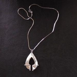 Unique design sterling silver necklace